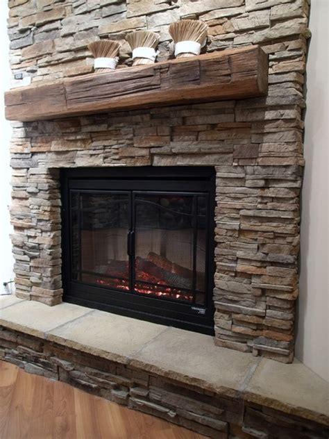 Ledge Stone Veneer Interior Fireplaces   Contemporary