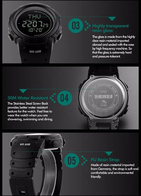 Box Packing Skmei 2017 skmei outdoor sports compass watches hiking
