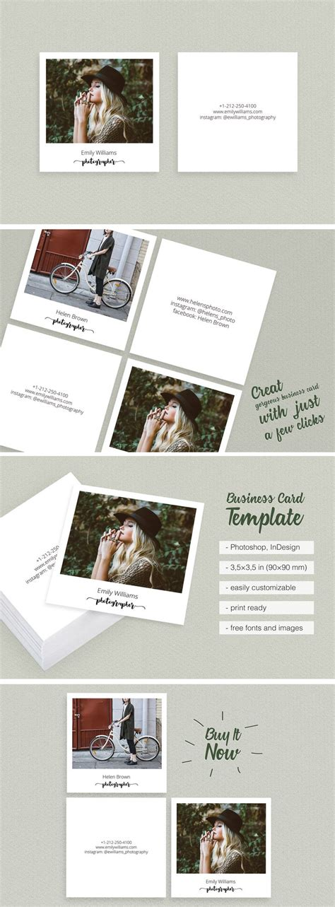 Polaroid Card Template by Best 25 Photography Business Cards Ideas On
