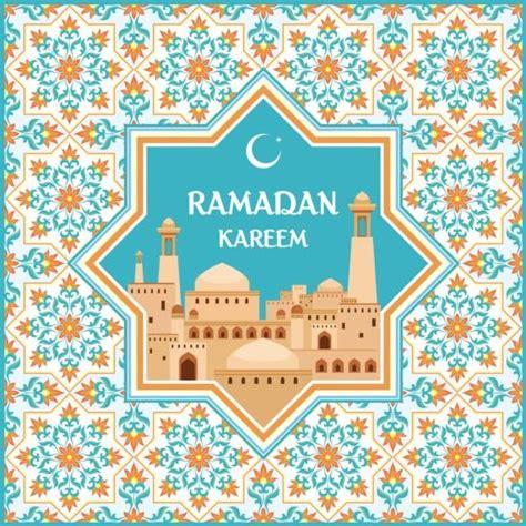 ramadan pattern vector ramadan pattern with greeting card vector 06 free download