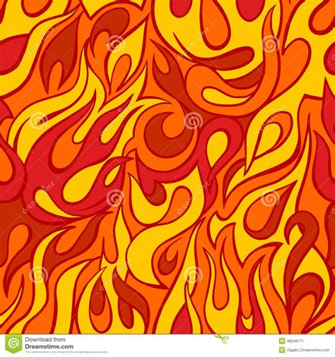 pattern heat vector fire flame seamless pattern stock vector image 48246171