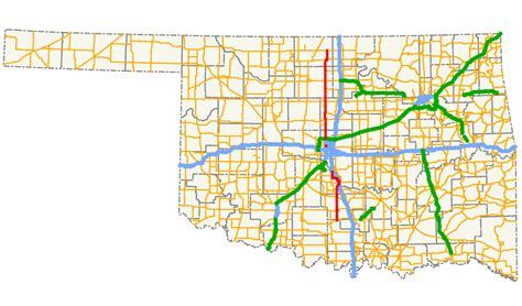 road map of oklahoma oklahoma state highway 74