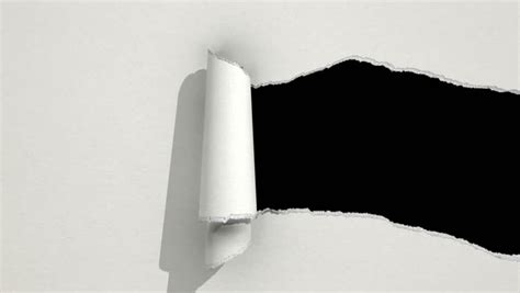 How To Make Tear Paper - ripping white paper animation with matte stock footage