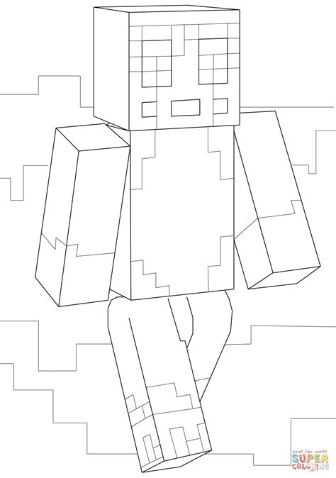 minecraft armor coloring page minecraft sty coloring page free printable coloring pages