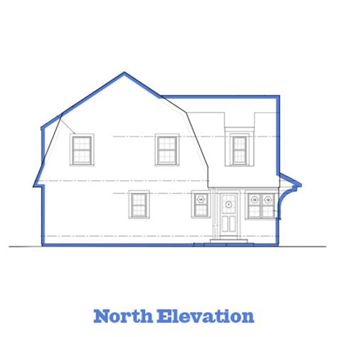 Floor Plans House Elevations The Newton Centre House Antique House Plans By Dudley Newton