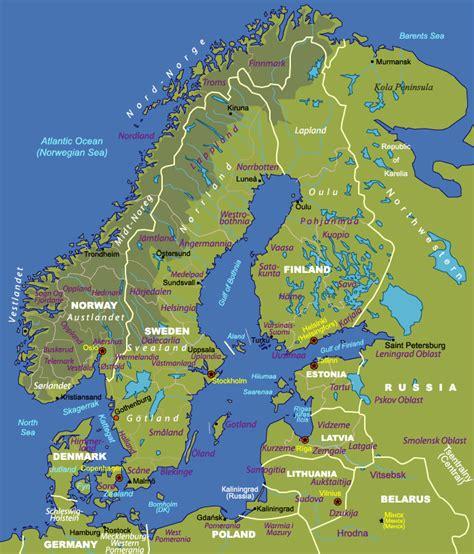 scandinavia map us2norway travel maps