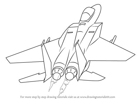 Draw A Plan learn how to draw a jet plane airplanes step by step