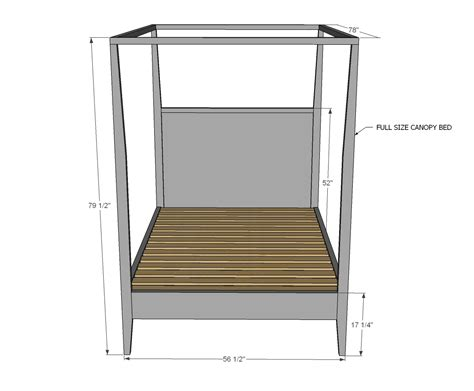 canopy bed plans ana white hannah canopy bed full size diy projects