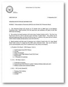 Promotion Board Letter To The President Army Bio Exle Promotion Board