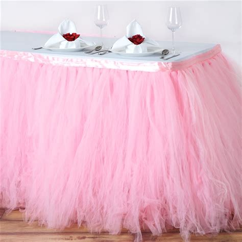 tulle tutu table skirt buy 17ft quartz 8 layer tulle tutu pleated table
