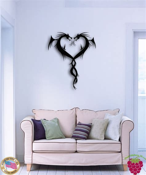 modern wall stickers for living room wall sticker dragons cool modern decor for living room z1358 ebay
