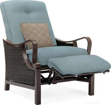 Patio Recliner by Hanover Ventura Luxury Resin Wicker Outdoor Recliner Chair