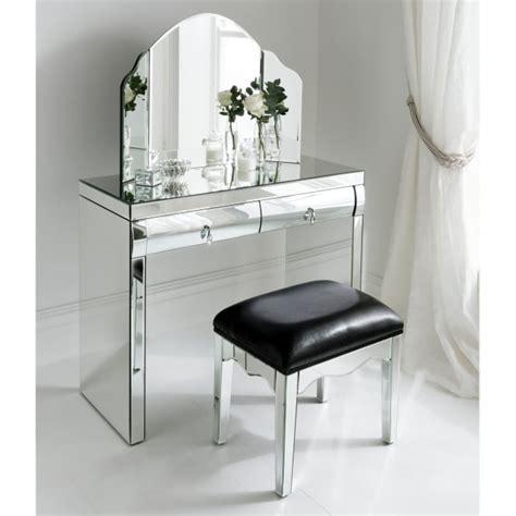 rimini mirrored dressing table set