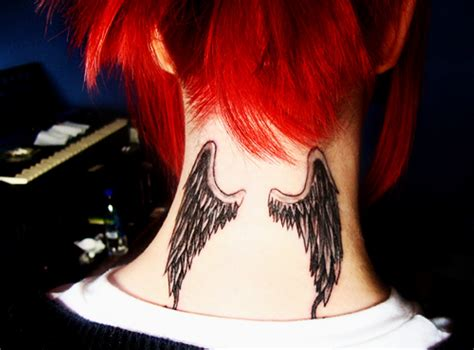 angel neck tattoo 27 neck tattoos