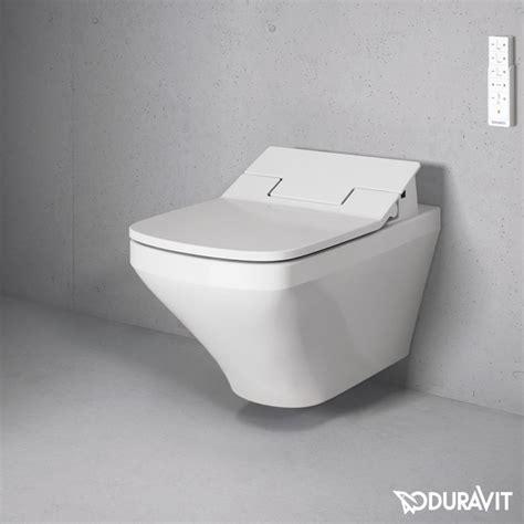 wand wc und bidet set duravit durastyle wall mounted rimless wc with sensowash