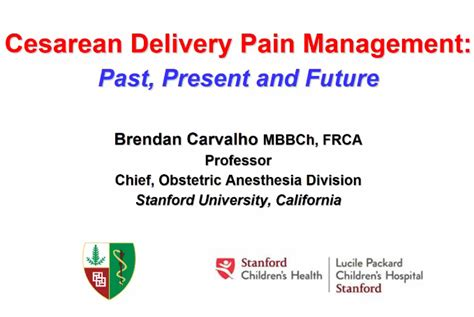 cesarean section pain grand rounds lectures ether stanford medicine