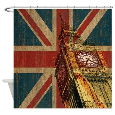 union jack drapes vintage union jack shower curtain by oneworldgear
