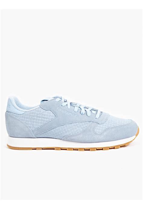reebok classic leather sneakers reebok s blue classic leather sneakers in blue for