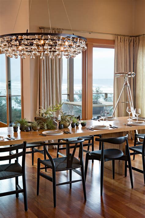 seeded glass chandelier dining room contemporary  arctic pear beach house beeyoutifullifecom