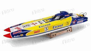 rc sw boat electric exceed racing fibgerglass imax saga catamaran 26cc gas