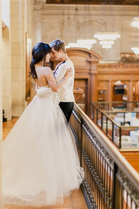 winter wedding new york picture of refined same winter wedding in new york library 2