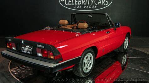 Alfa Romeo Las Vegas 1984 Alfa Romeo Spider Veloce 2 0l 4 Cyl Las Vegas
