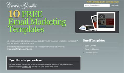 email template for marketing caign 100 free responsive html e mail e newsletter templates