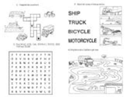 esl worksheets means of transport exercises