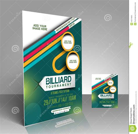 design competition poster template billiard competition flyer stock vector image of