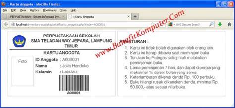 membuat barcode dengan php source code sistem inventory buku perpustakaan berbasis