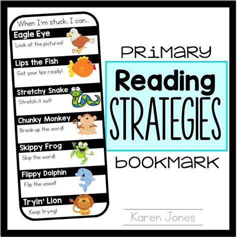 printable bookmarks reading strategies 43 best images about book buddy on pinterest anchor