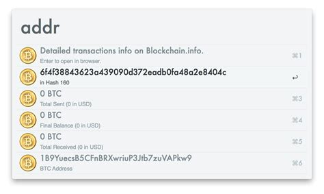 Search Bitcoin Address Bitcoin Workflow For Alfred 2 Lucifr