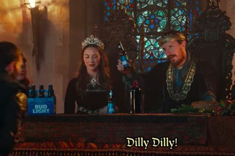 bud light commercial dilly dilly dilly what does that phrase from bud light
