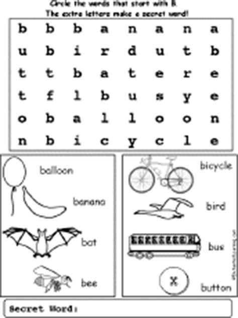 banana boat initials crossword letter b alphabet activities at enchantedlearning