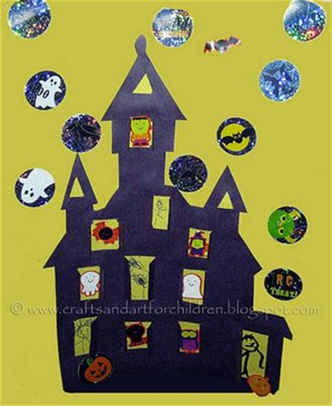 printable haunted house craft haunted houses halloween crafts and crafts on pinterest