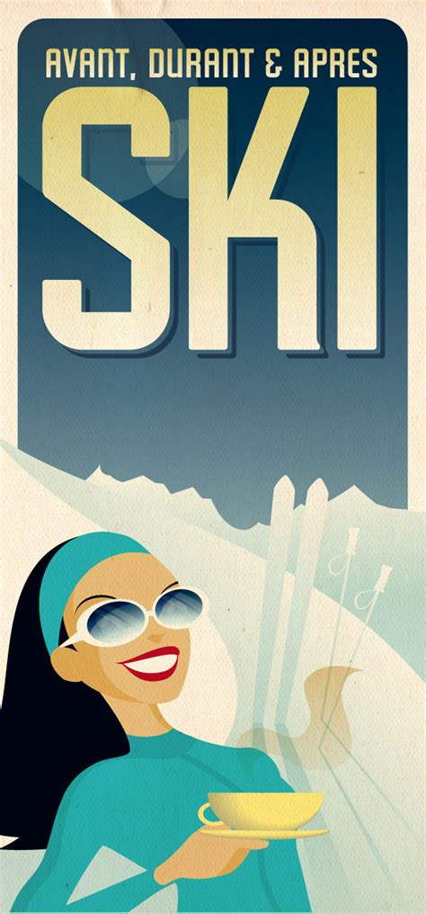 Tutorial Design Retro | creating a vintage ski poster design with illustrator cs4