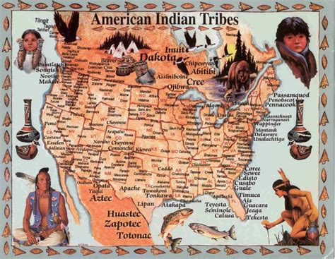 america map indian tribes image detail for map of american tribes