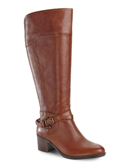 marc fisher boots marc fisher cognac kacee wide calf boots in brown