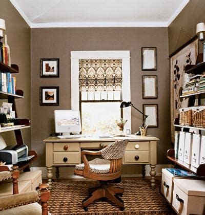 taupe walls traditional den library office