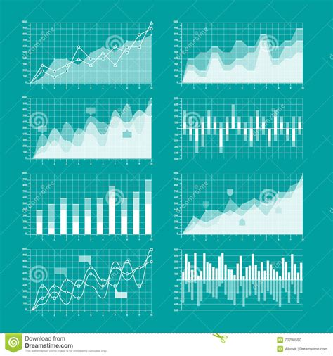 Business Charts And Graphs Template Stock Vector Image 70298590 Business Graphs And Charts Templates