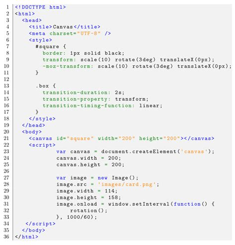 latex tutorial source code formatting listings code style for html5 css html