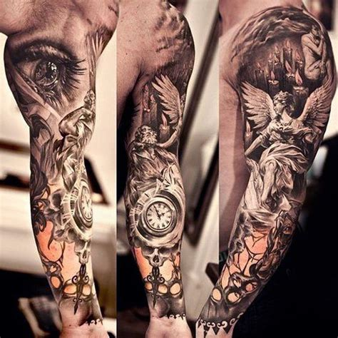 3d tattoos cross religious sleeve best 3d ideas