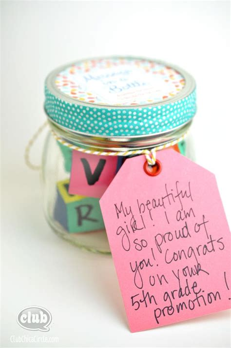 Handmade Graduation Gifts - message in a bottle graduation gift idea tween
