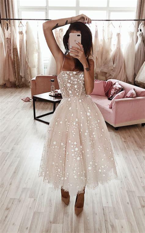 wild stars ombre midi wedding dress  boom blush sparkly