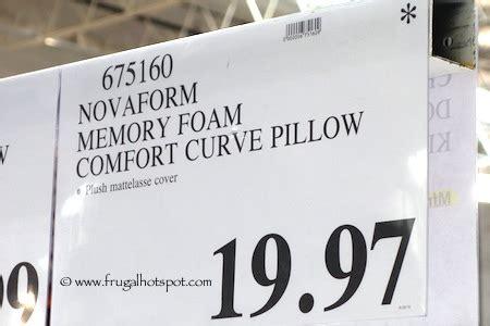 novaform comfort curve pillow novaform memory foam comfort curve bed pillow costco price