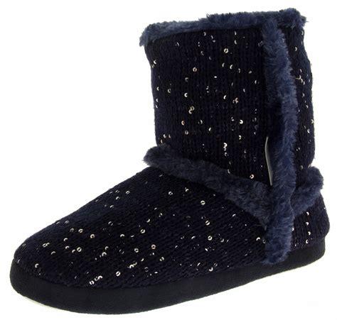 fleece boot slippers womens boot slippers fur sequin fleece lined comfort