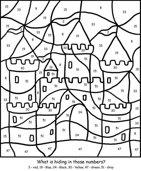 cool coloring pages games color by number for older kids kiddo shelter