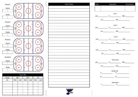 Lineup Card Template Hockey by Bedford Minor Hockey Association Powered By Goalline Ca