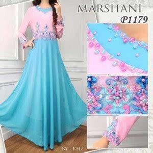Baju Atasan Wanita 1146 gaun pesta marshani p1179 sifon baju gamis modern