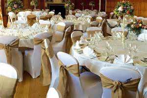 wedding reception chair covers wedding table centre package deans chair covers